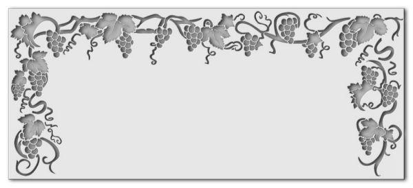 Wandschablone Weinranke 2