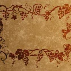 Wandschablone Weinrebe Weinlaub floral