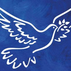 Wandschablone Friedenstaube Vögel