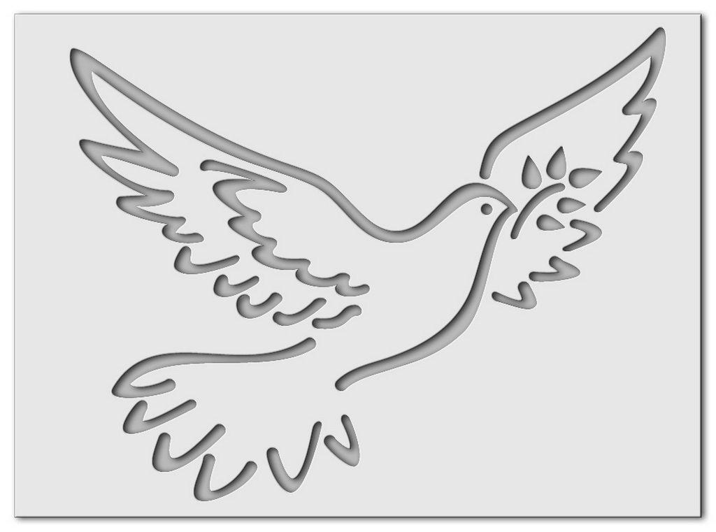 Wandschablonen Friedenstaube : Schablono