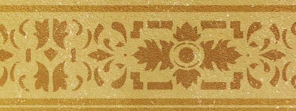 Wandschablone Leaflet floral