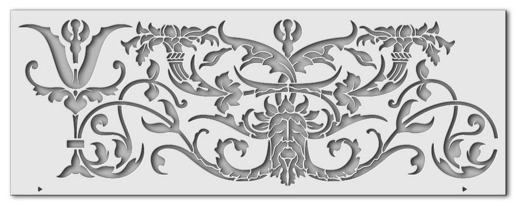 Wandschablone Botanius
