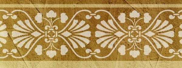 Wandschablone Stencilio floral