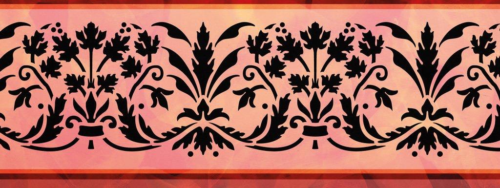 Wandschablone Botanika floral