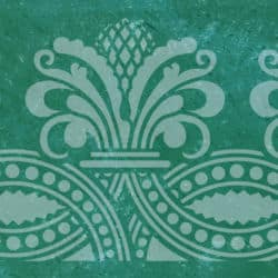 Wandschablone Zapfino floral
