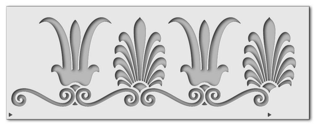 0525 grigio wandschablone Palmettenlotosranke