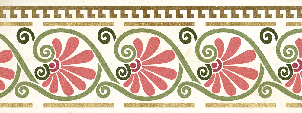 Wandschablone Historicalgarden floral
