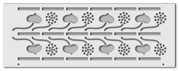 Wandschablone Herzblätter