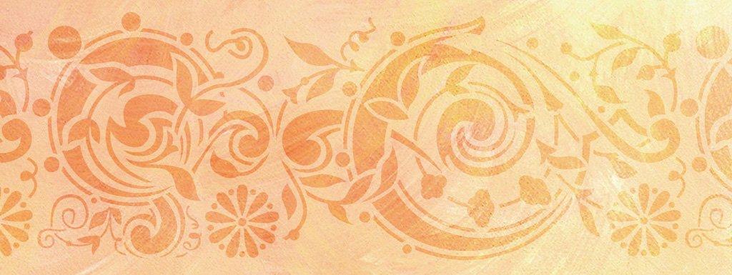 Wandschablone Twister floral