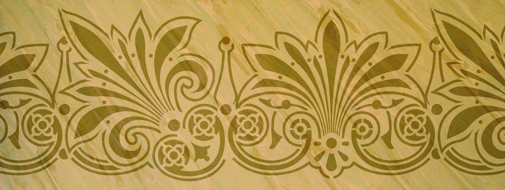 Wandschablone Florentiner floral