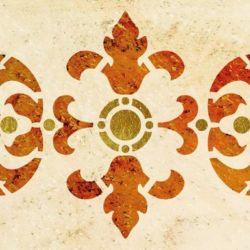Wandschablone Bandeno floral