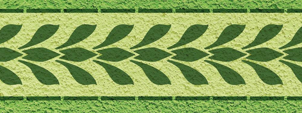 Wandschablone Palmukale floral