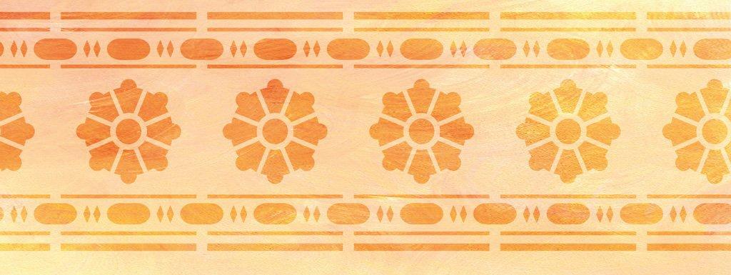 Wandschablone Bloomingdale Klassizismus