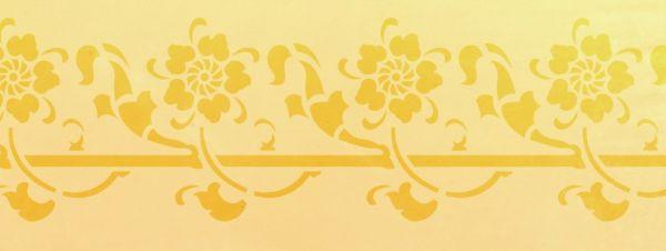 Wandschablone FlowerPower floral