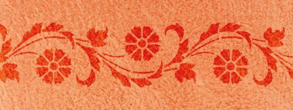 Wandschablone Kornblumen floral