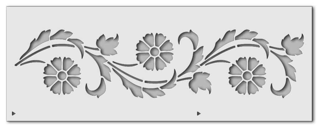 Wandschablone Kornblumen