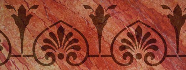 Wandschablone Herzblatt
