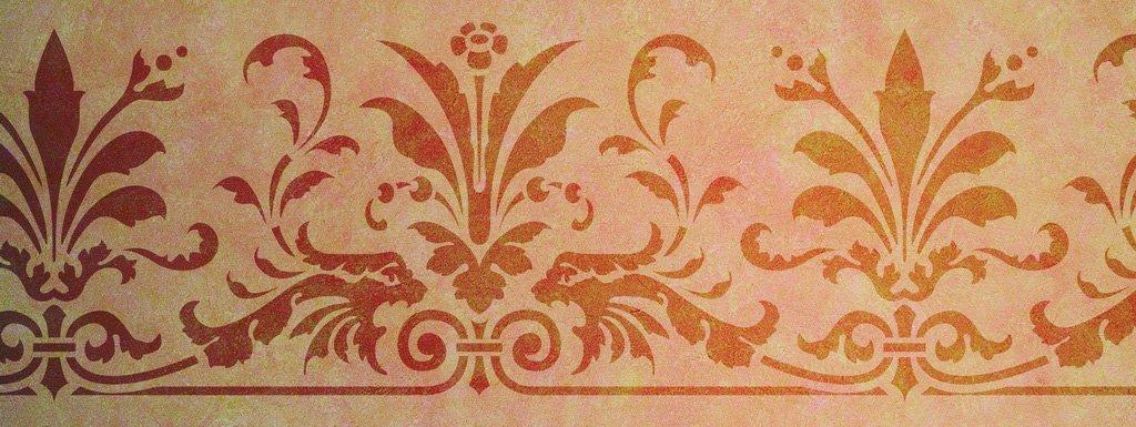 Wandschablone Dragongarden floral