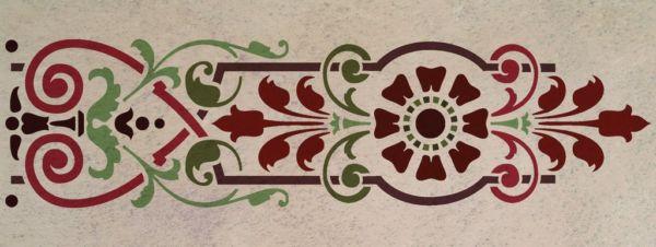 Wandschablone Floraheart floral