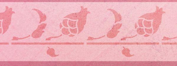 Wandschablone Zapfenstreich floral