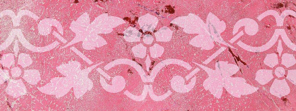 Wandschablone Blümli floral