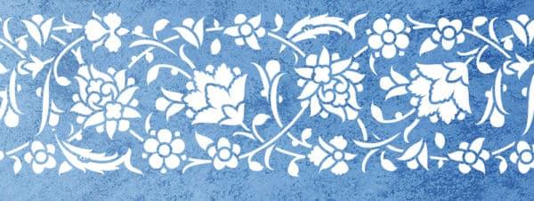 Wandschablone Laurentia floral