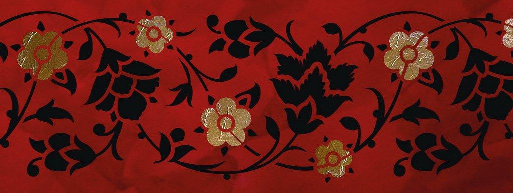 Wandschablone Flori floral