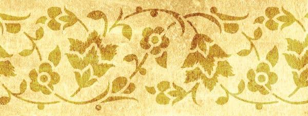 Wandschablone Fleuve floral