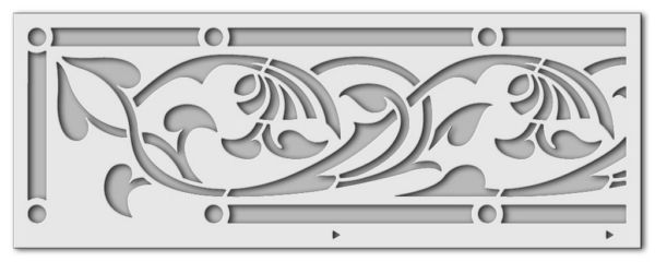 Wandschablone Art Nouveau
