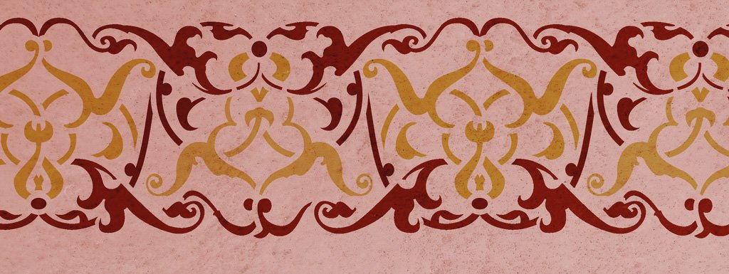 Wandschablone Medina floral