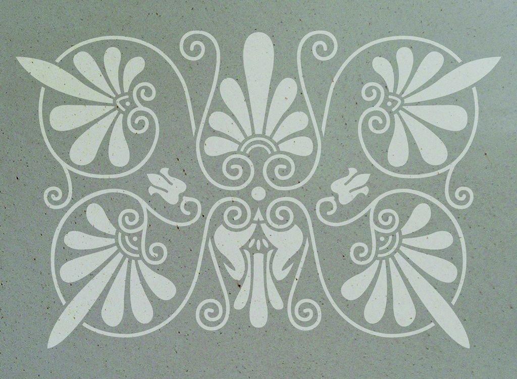 Wandschablone Augustinus floral