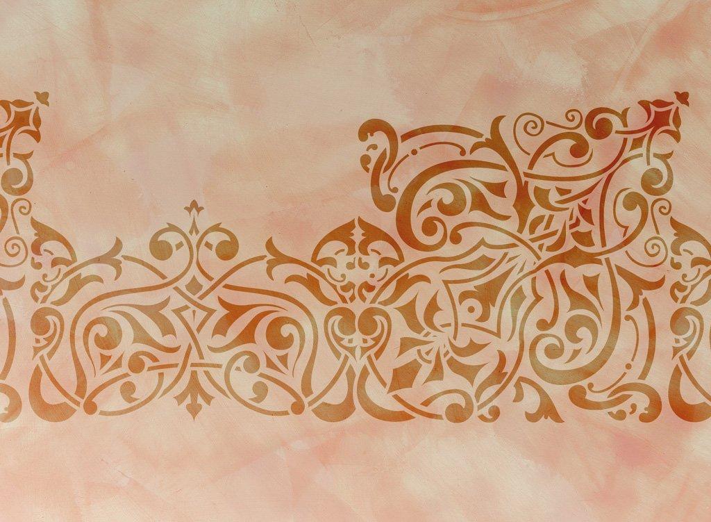 Wandschablone Semiramis floral