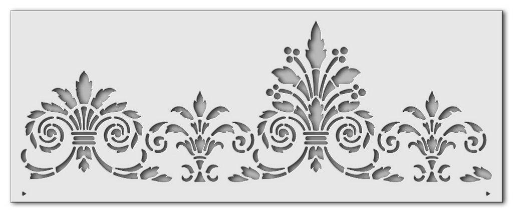 Wandschablone Blumenrad