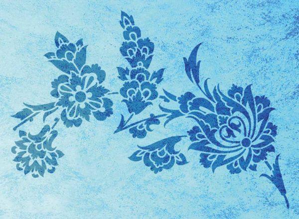 Wandschablone Muttertag floral