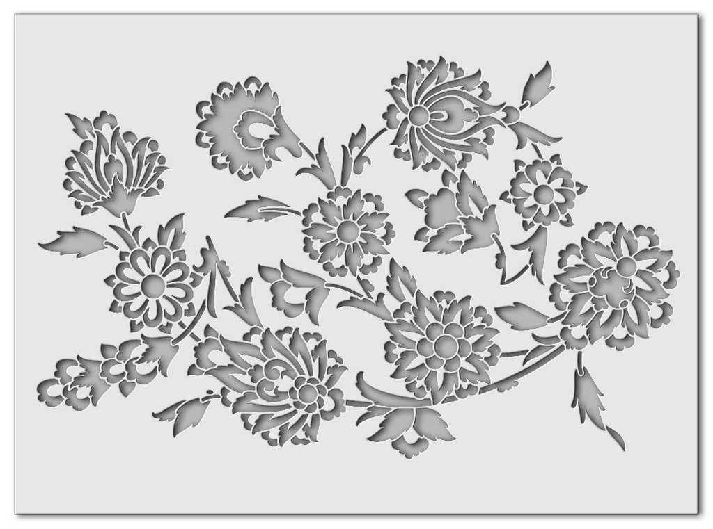 Wandschablone Flora 2