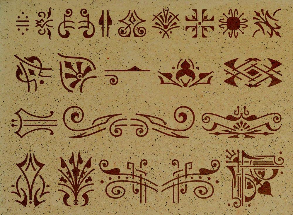 Wandschablone Decoration Kultur