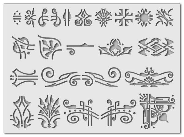 Wandschablone Decoration