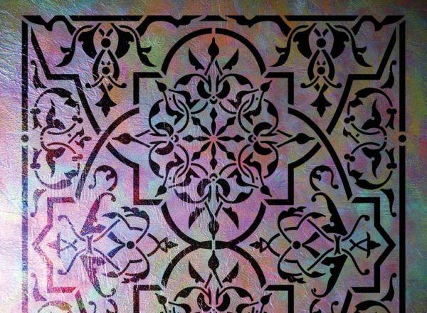 Wandschablone Fatima floral
