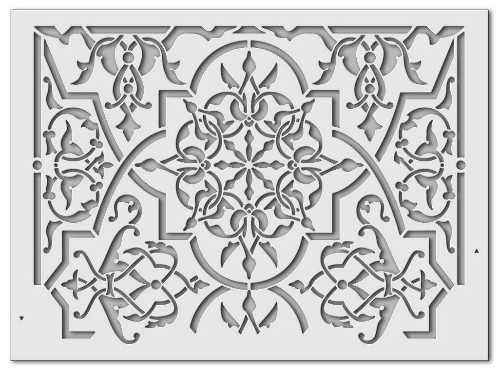 Wandschablone Fatima islamische Kunst
