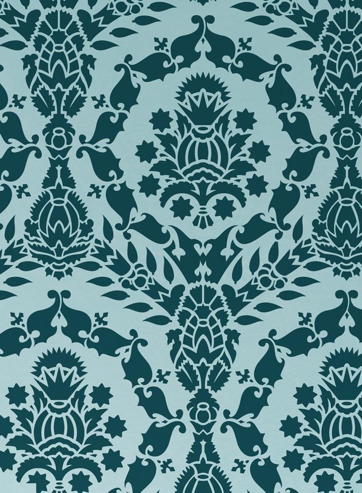 Wandschablone Gardenia englischer stil
