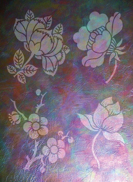 Wandschablone Blütenzauber floral