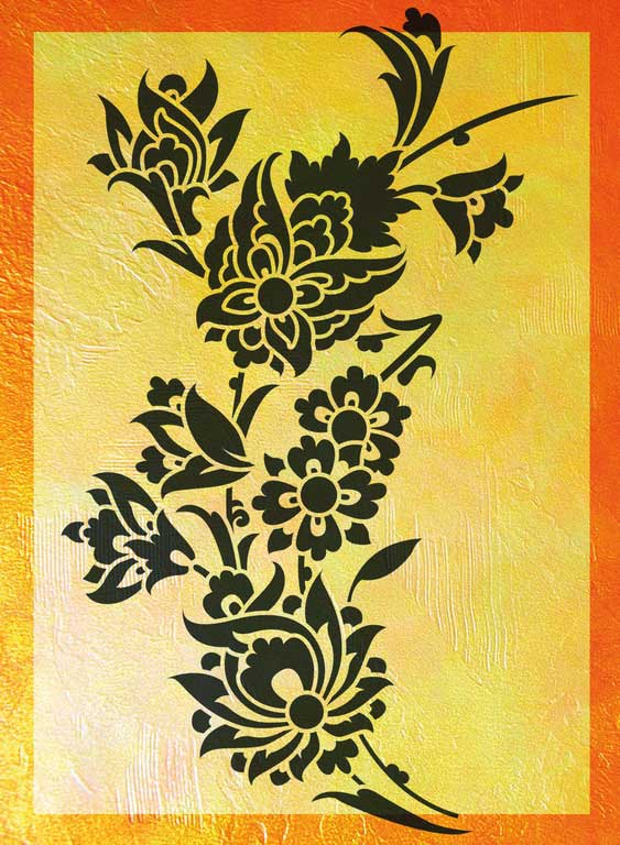 Wandschablone Valentina floral