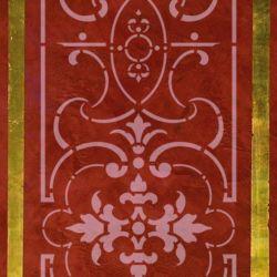 Wandschablone drehen und ansetzen floral