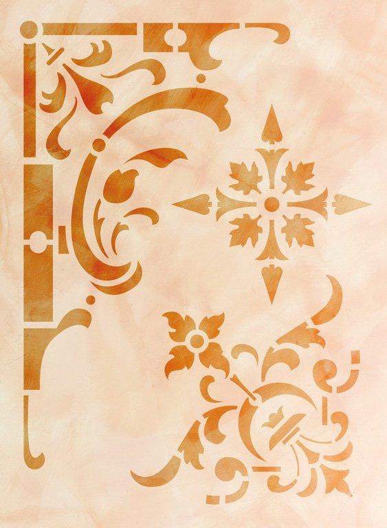 Wandschablone Sticker floral