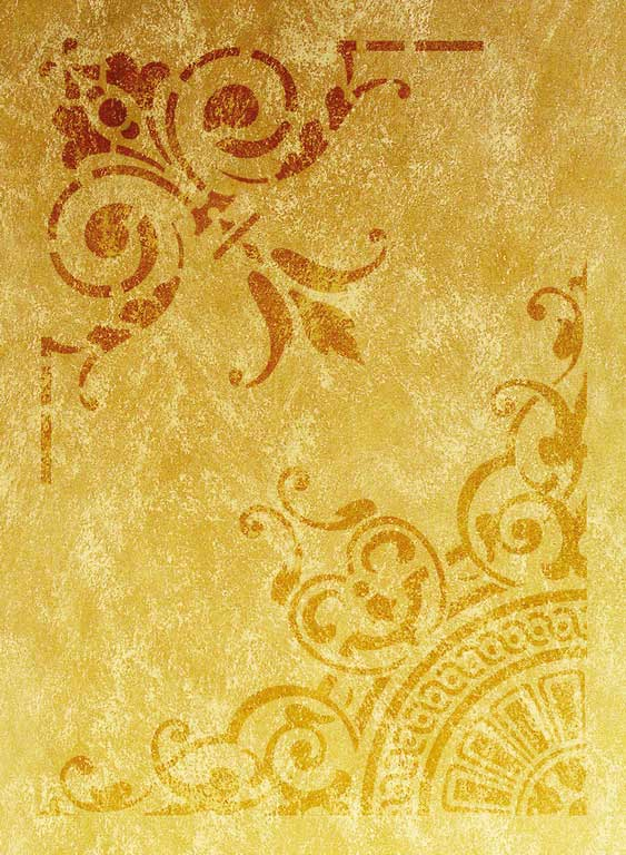 Wandschablone Rondo floral