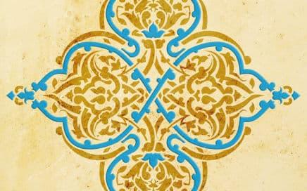 Wandschablone Arabeske floral