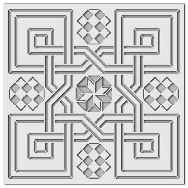 Wandschablone Spiegellabyrinth