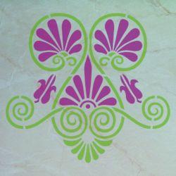 Wandschablone Palmette floral