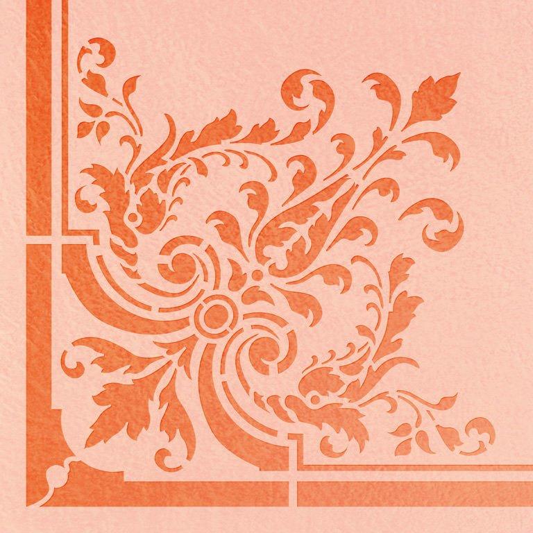 Wandschablone Corner floral