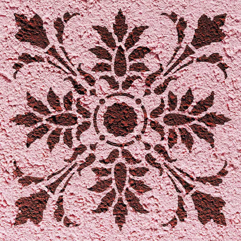 Wandschablone Quattrophenia floral